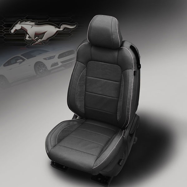 Katzkin Design 2015 Mustang Outlaw Black Leather Seats