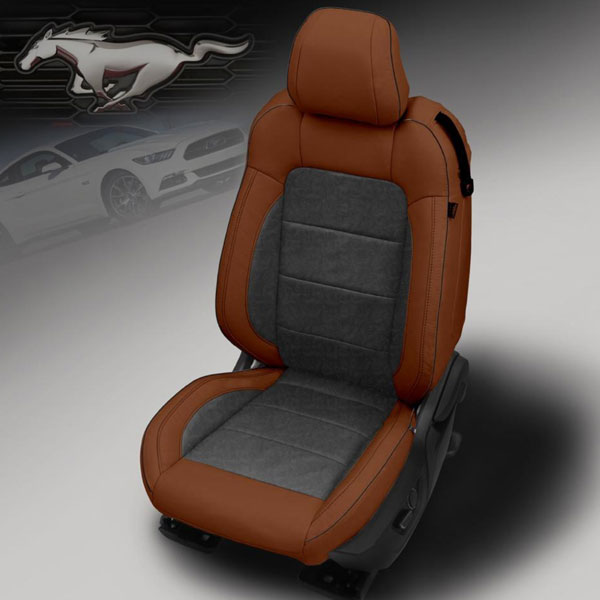 Katzkin Design 2015 Ford Mustang Bourbon Outlaw Leather