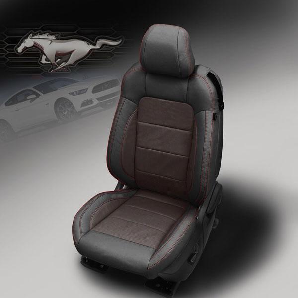 Katzkin Design 2015 Mustang Barracuda Red Leather Seats