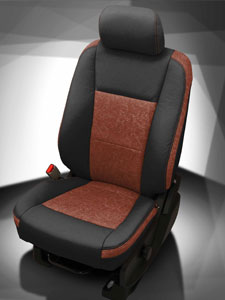 Ford Truck Leather - Black wrap, Outlaw Saddle insert, Outlaw Saddle wings, Cognac contrast all stitch