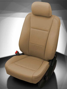 Ford Super Duty Katzkin - Bisque wrap, perf insert, Bisque stitching