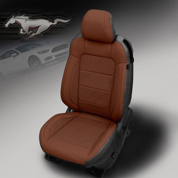 Katzkin Design 2015 Ford Mustang Black Wrap Bourbon Face Leather Seats