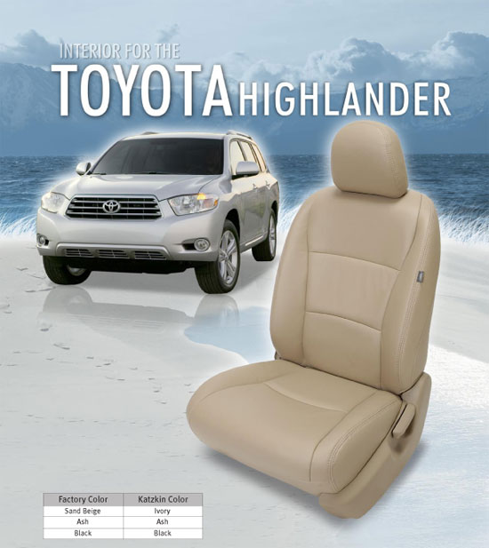 Toyota Highlander Katzkin Leather Seats